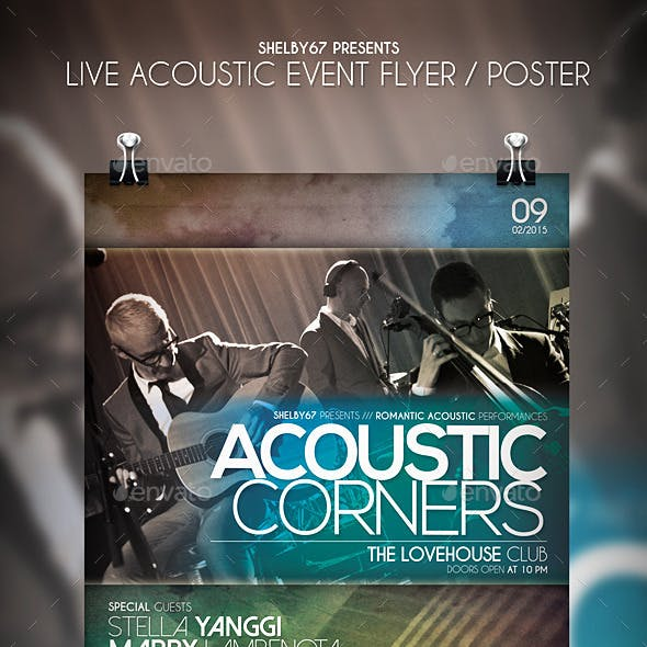 Live Acoustic Event Flyer / Poster