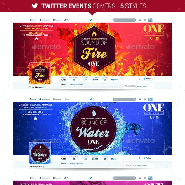 Twitter Events Covers