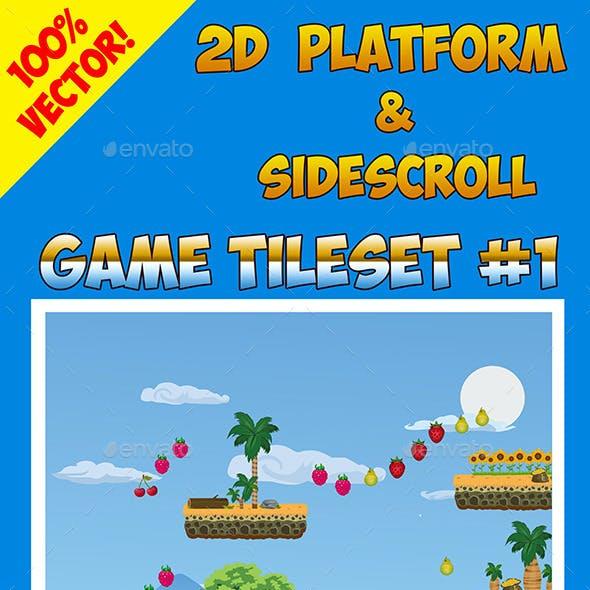 2D Platform & Sidescroll Tileset #1