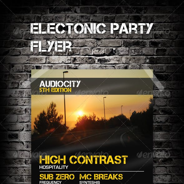 Electronic Party Flyer / Poster