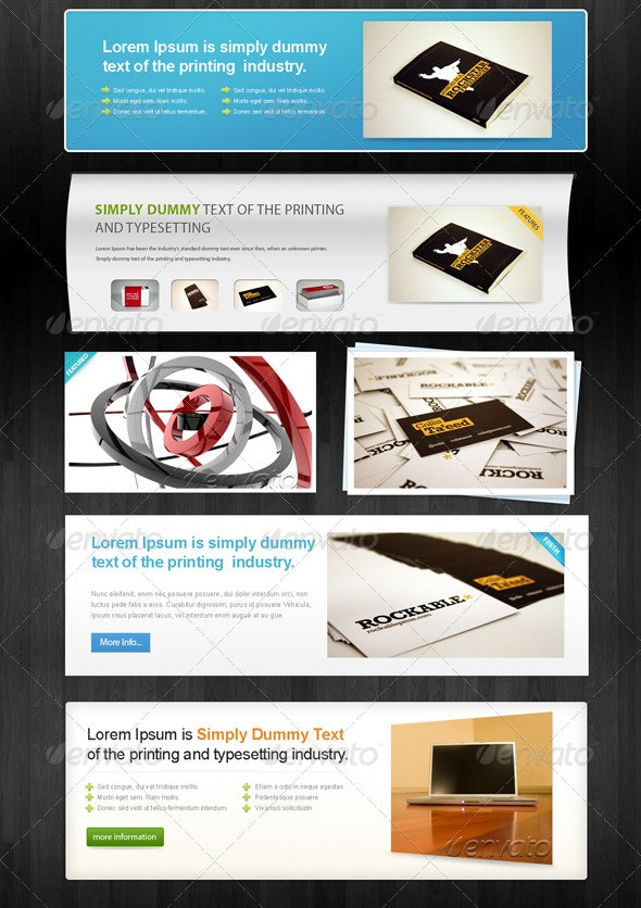 6 Web ShowCases - Web Elements