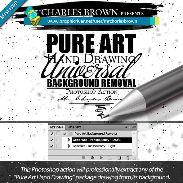 All Pure Art Hand Drawing Background Removal