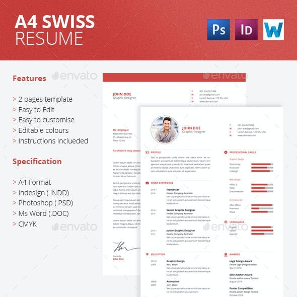A4 Swiss Resume