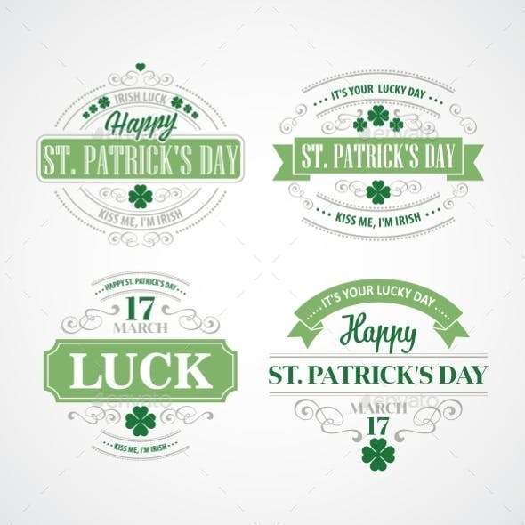 Typography St. Patricks Day