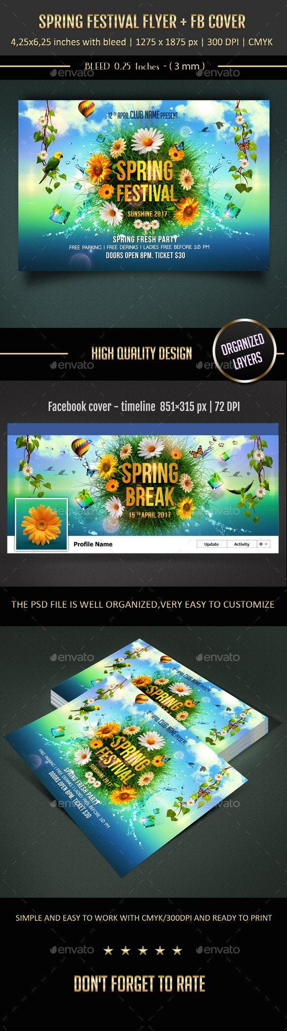 Spring Festival Flyer - Flyers Print Templates