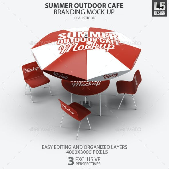 Summer Outdoor Cafe Branding Mock-Up