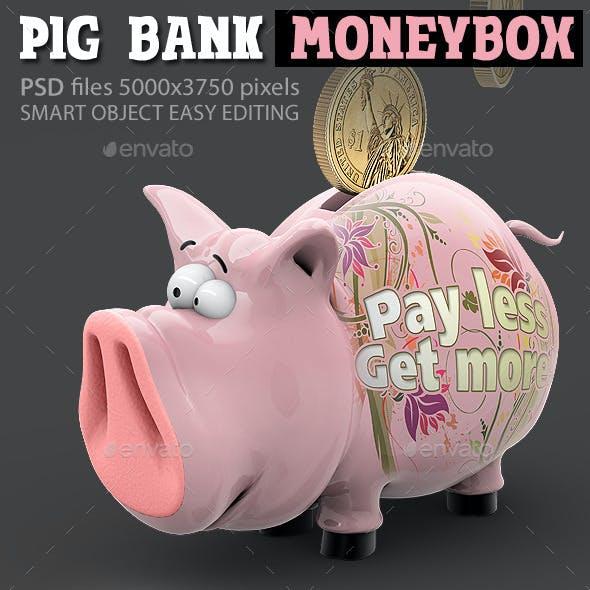Pig Bank Moneybox, Piggy Thrift-Box