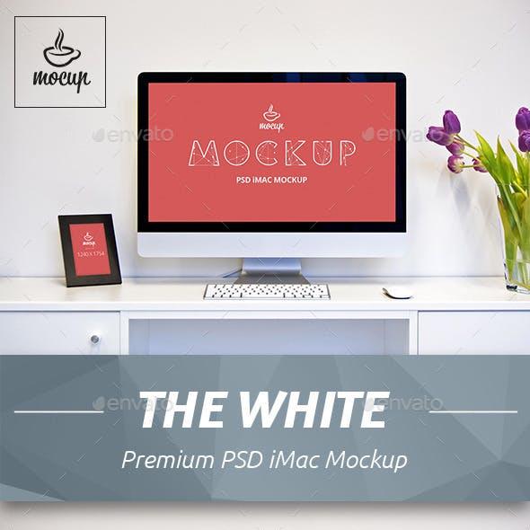 The White iMac Mockup