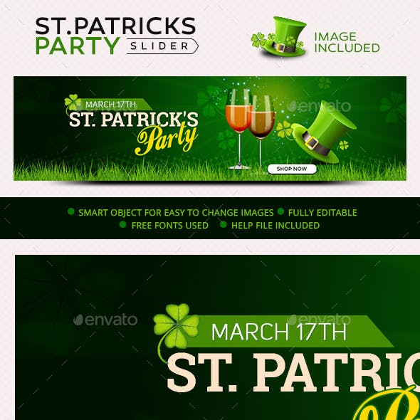St.Patrick's Day Party Slider