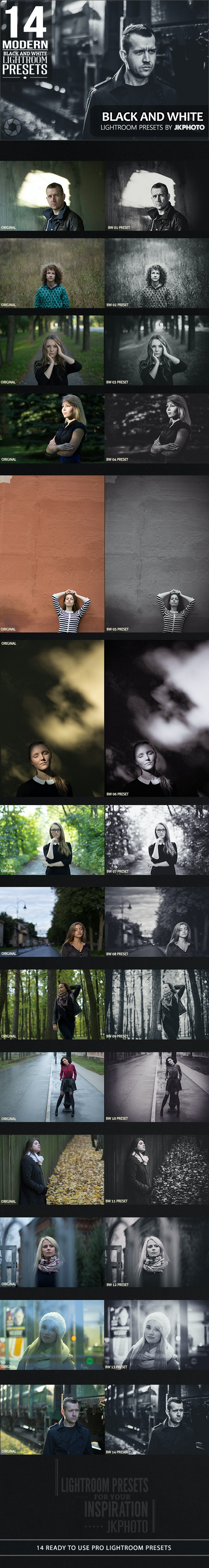 14 Black And White Lightroom Presets - Black and white Lightroom Presets
