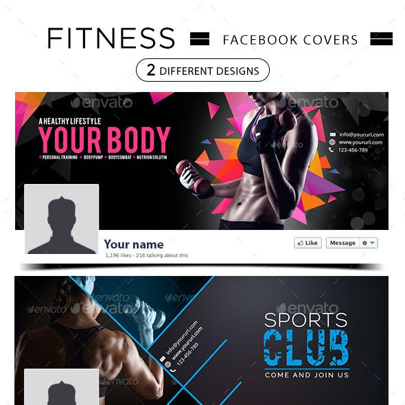 2 Fitness Facebook Covers