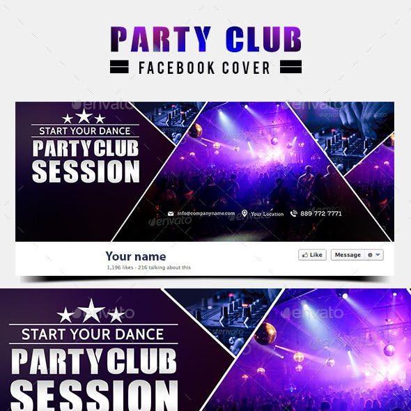 Night Club Facebook Cover