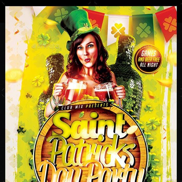 St Patricks Day   Flyer Template PSD