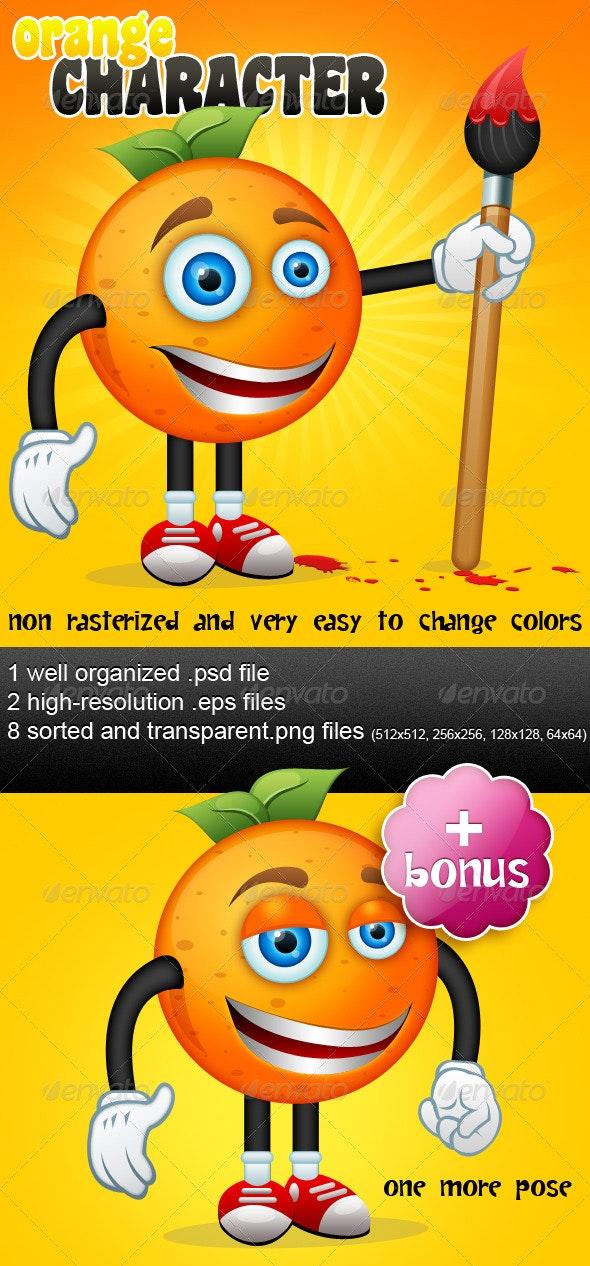 Orange Character + Bonus - Characters Illustrations