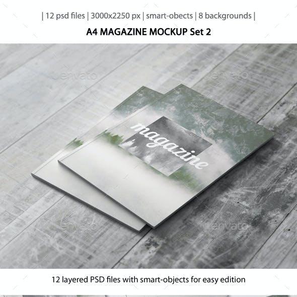 A4 Magazine Mockup - Set 2