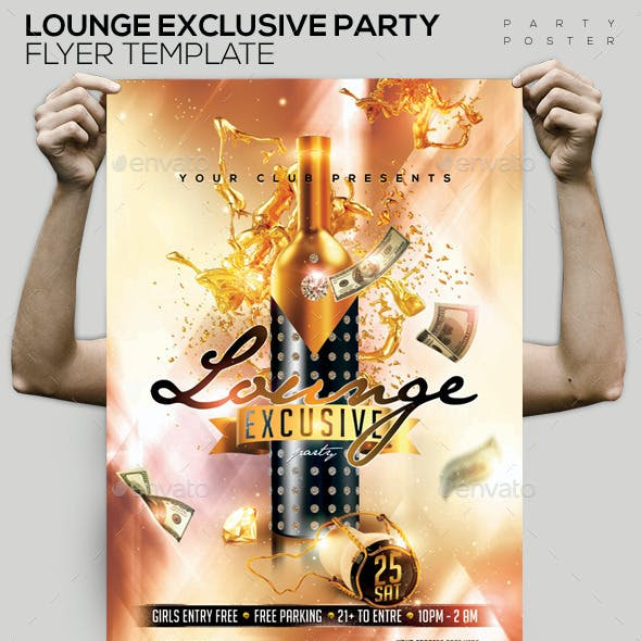 Lounge Exclusive Champagne Template Flyer/Poster