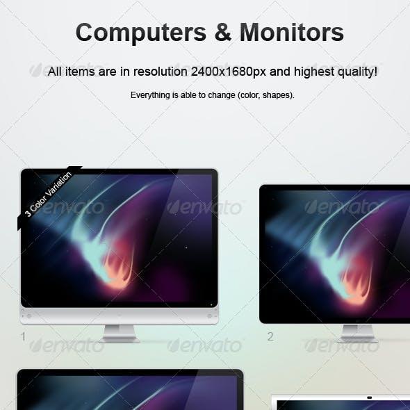 Computer & Monitor Set.