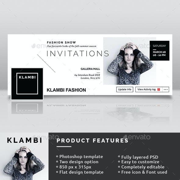 Fashion Show Invitation Facebook Timeline Covers