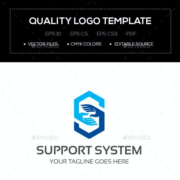 Support System Logo Template