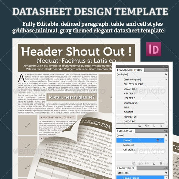 DATASHEET DESIGN TEMPLATE