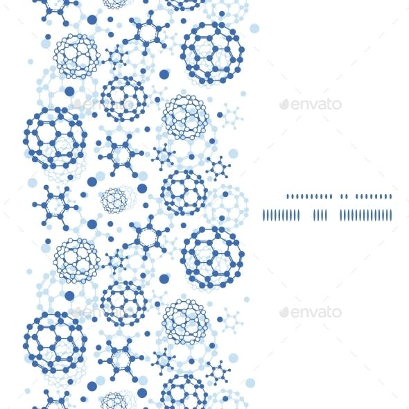 Vector Blue Molecules Texture Vertical Frame