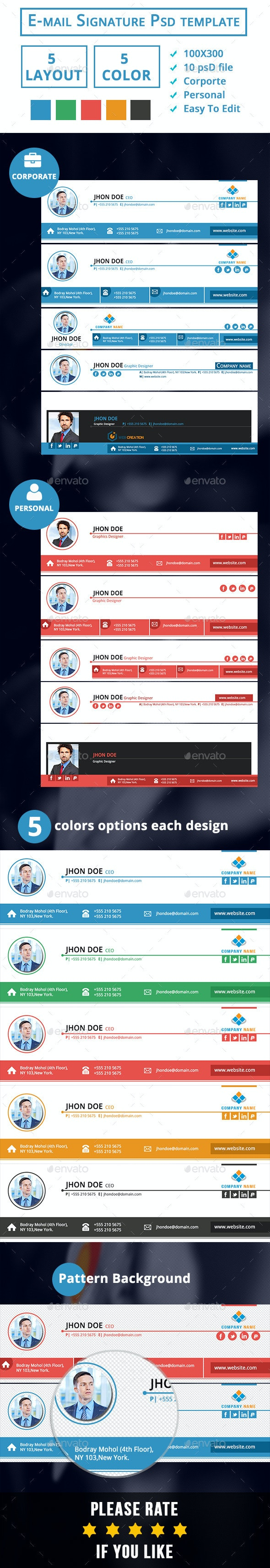 EMail Signature- Corporate & Personal  - Miscellaneous Web Elements
