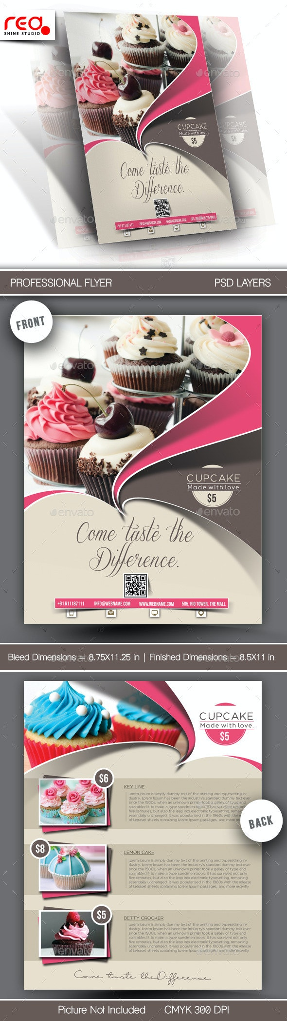 Cupcake Flyer & Poster Template - Restaurant Flyers