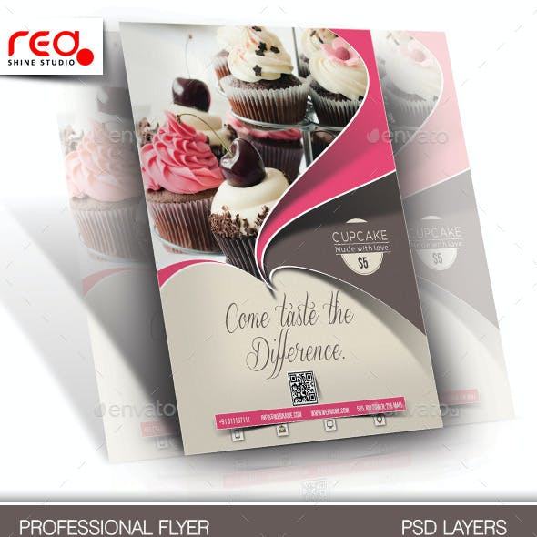 Cupcake Flyer & Poster Template