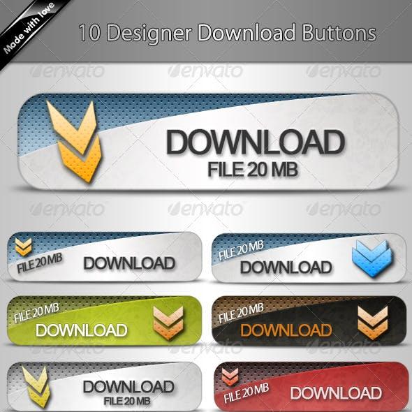 10 Designer Download Buttons v.1