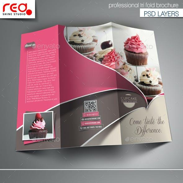 Cupcake Trifold Brochure Template