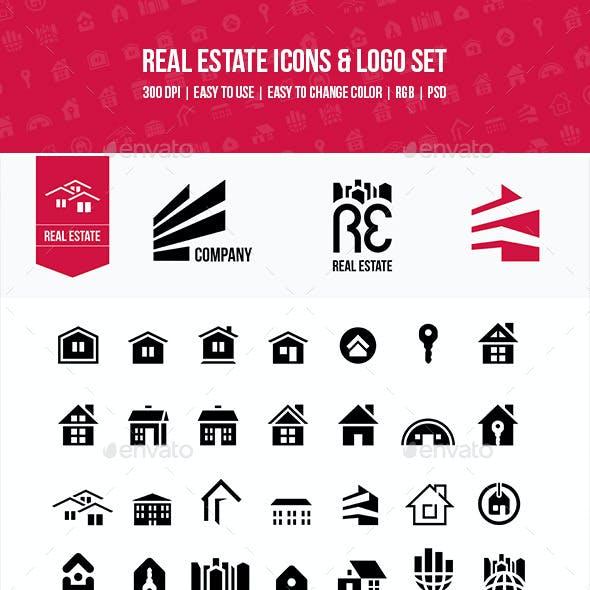 Real Estate Icons & Logo Set