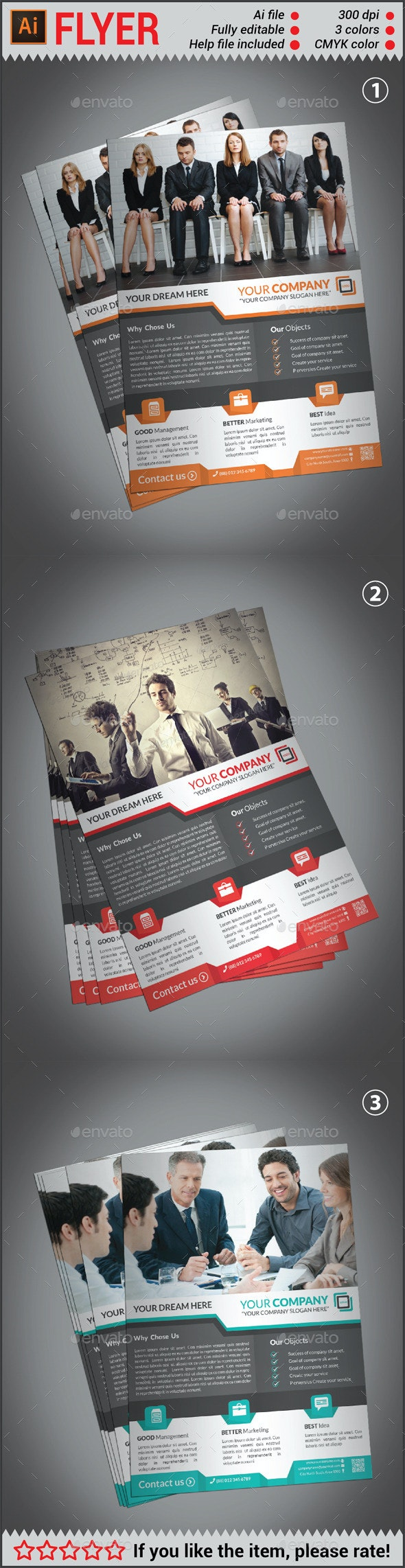 Professional Creative Corporate Business Flyer Print Template - Corporate Flyers