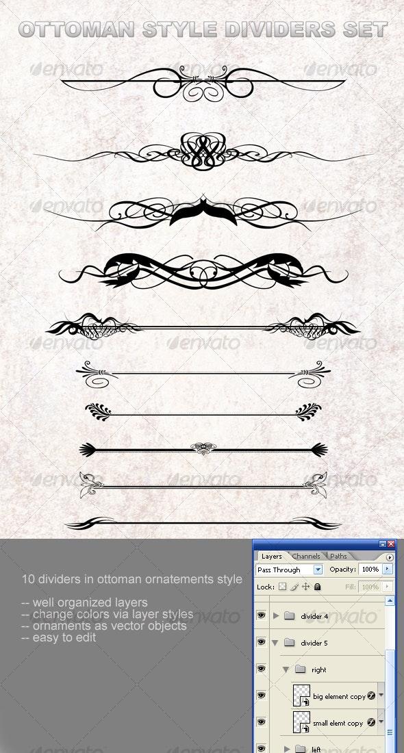 Ottoman style dividers set - Decorative Symbols Decorative