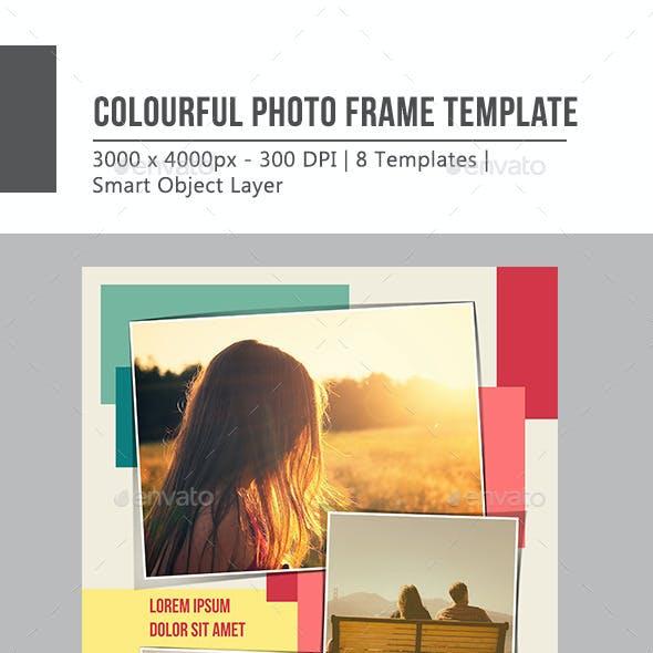 Colourful Photo Frame Template
