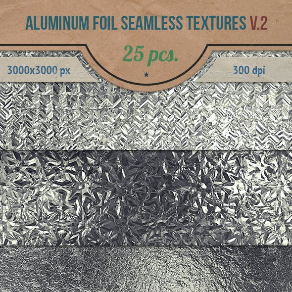 Aluminum Foil Seamless HD Textures Pack v.2