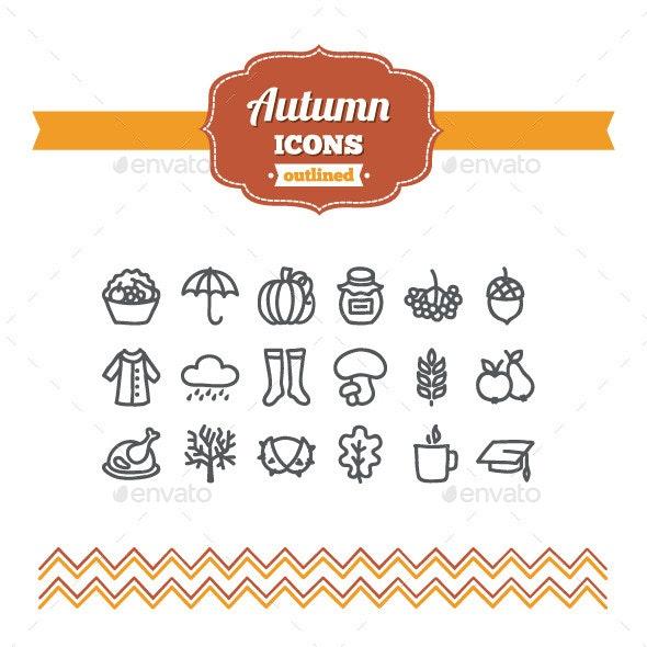 Hand Drawn Autumn Icons - Seasonal Icons