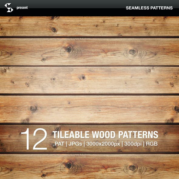 Wood Patterns - Tileable Wooden Boards