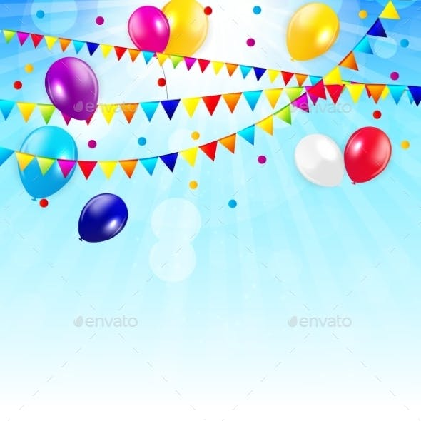 Colored Balloons Background