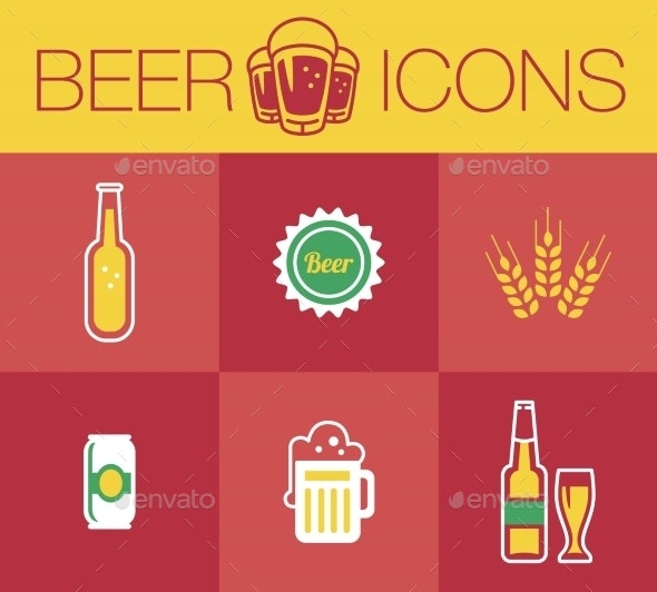 Beer, Icon Set - Food Objects