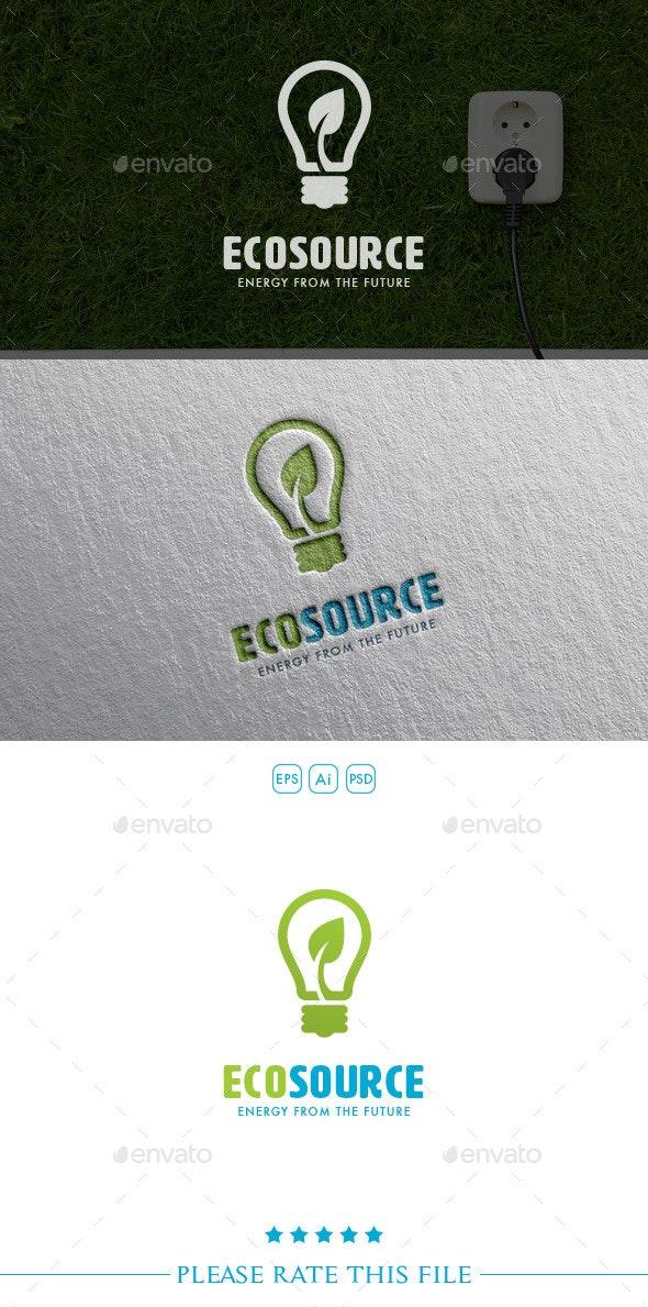 Eco Source Bulb Logo - Objects Logo Templates