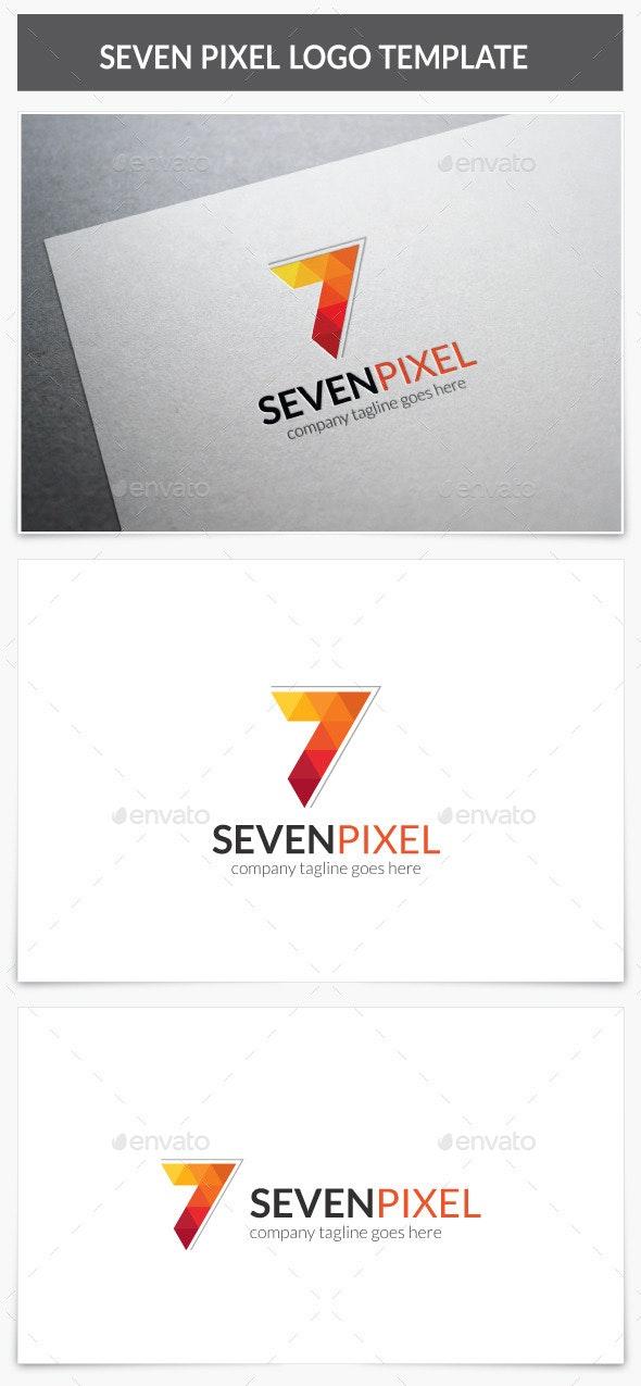 Seven Pixel Logo - Numbers Logo Templates