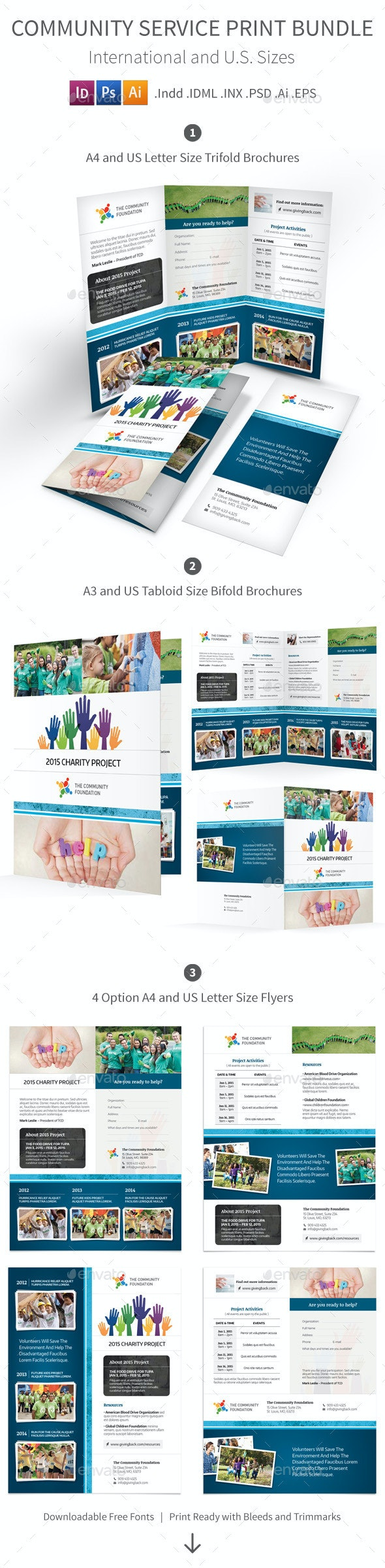 Community Service Print Bundle - Informational Brochures