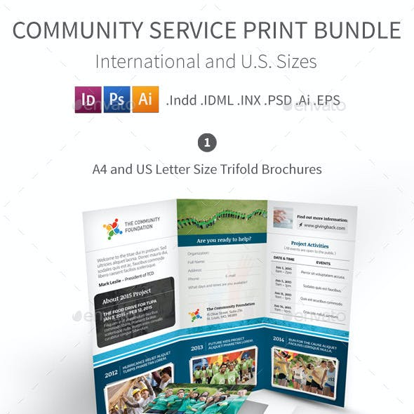 Community Service Print Bundle