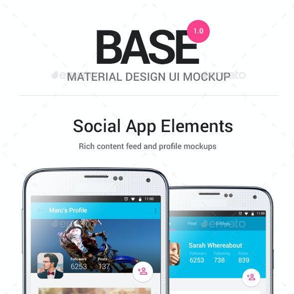 Base - Material Design Mobile Mockup