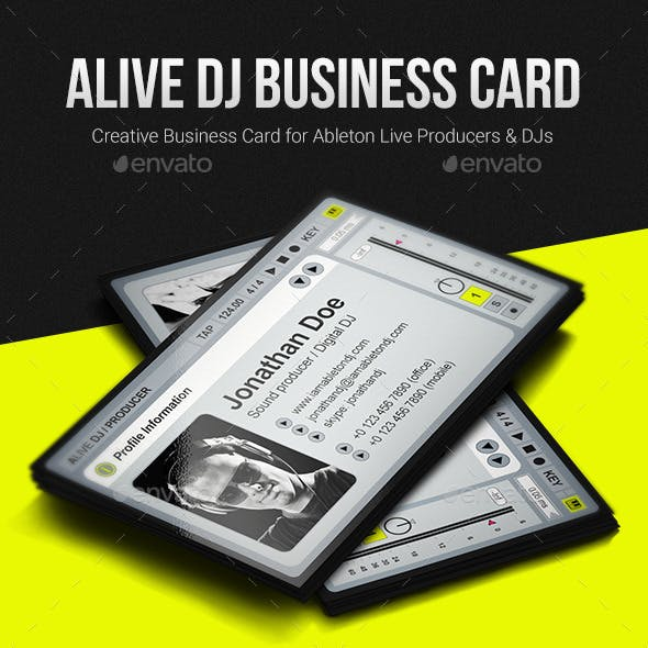 aLive Producer / DJ Business Card