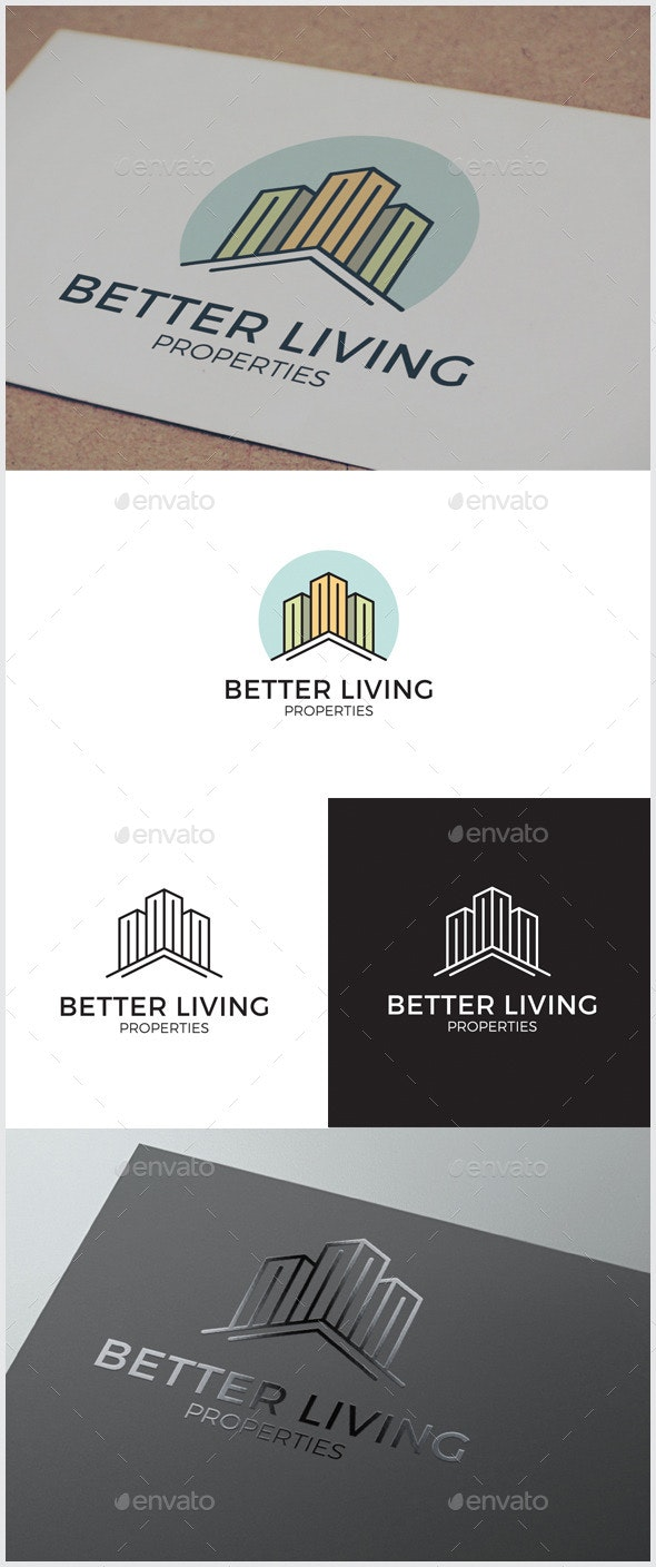 Better Living Real Estate Logo - Buildings Logo Templates