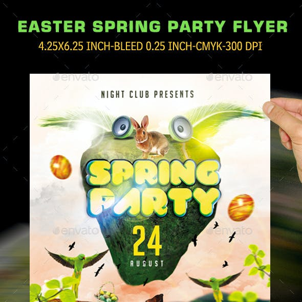 Easter Spring Party Flyer