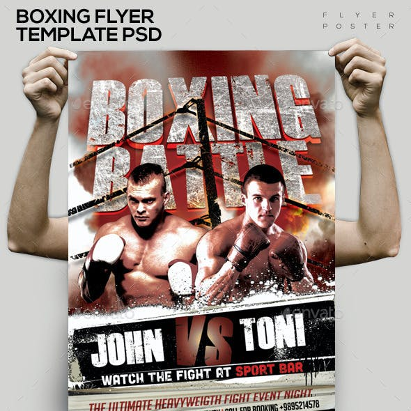 MMA - Boxing Template PSD Flyer/Poster