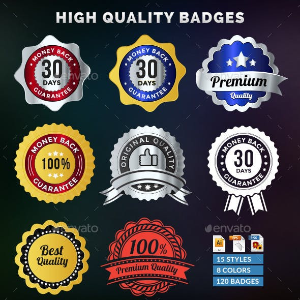 120 High Quality Badges & Seals