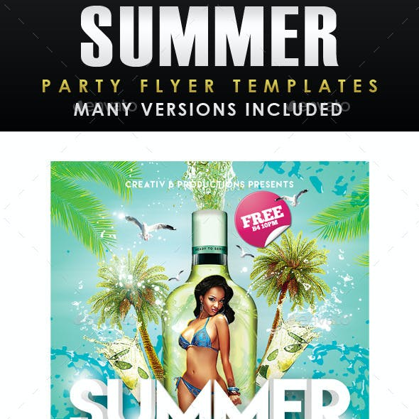 Summer Party Flyer Template 3